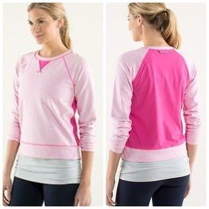 Pink Lululemon Voyage Pullover Sweatshirt size 4